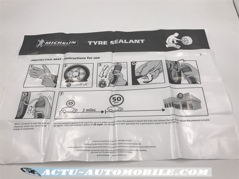 STOP Crevaison Michelin - tapis de sol & protection