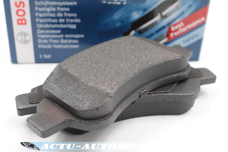 Stucture d'une plaquette de frein Bosch