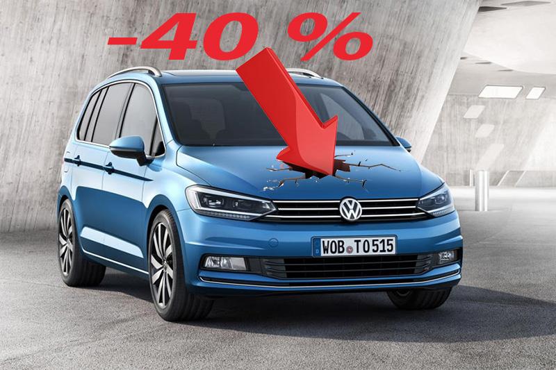 Le Volkswagen Touran chute de près de 40 % sur le 1er trimestre 2017 par rapport à l'année passée