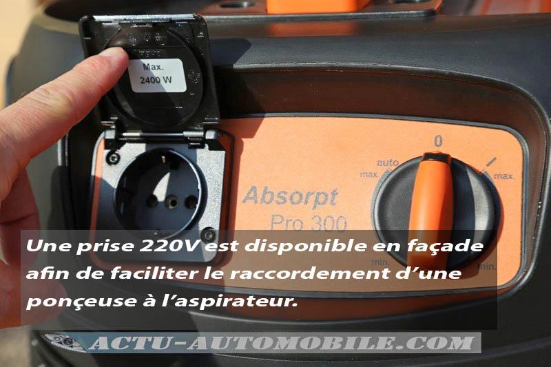 Test Aspirateur AEG Powertools Absorpt Pro 300ELCP