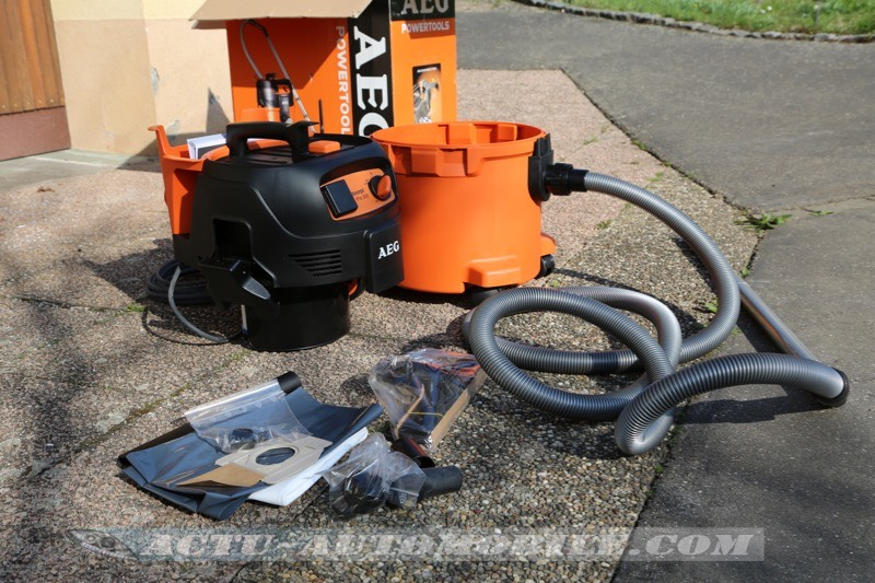 Test Aspirateur AEG Powertools Absorpt Pro 300ELCP