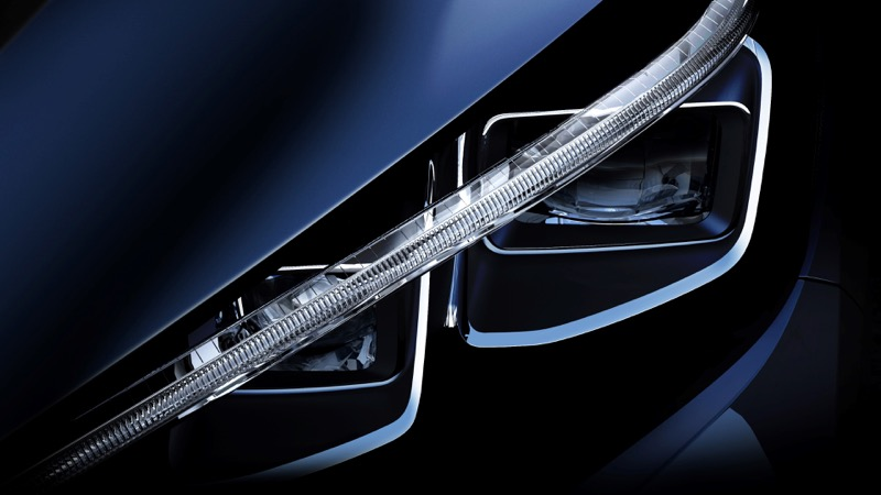 Le phare de la nouvelle Nissan Leaf