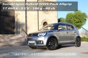 Essai nouvelle Suzuki Ignis Allgrip SHVS