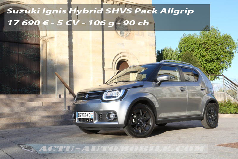 essai nouvelle suzuki ignis allgrip shvs 2017 actu automobile. Black Bedroom Furniture Sets. Home Design Ideas