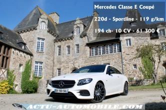 Essai Mercedes Classe E Coupé Sportline Pack 220d Edition One