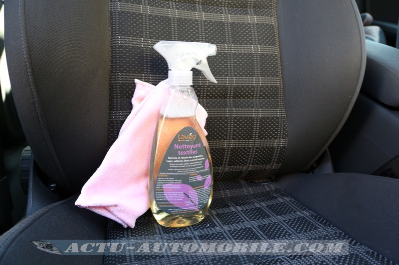 Test nettoyant textile Lavéo