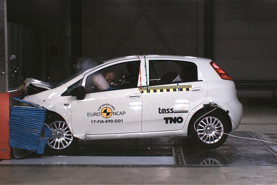 La Fiat Punto a été sanctionnée par une note de 0 étoile au dernier crash test Euro NCAP