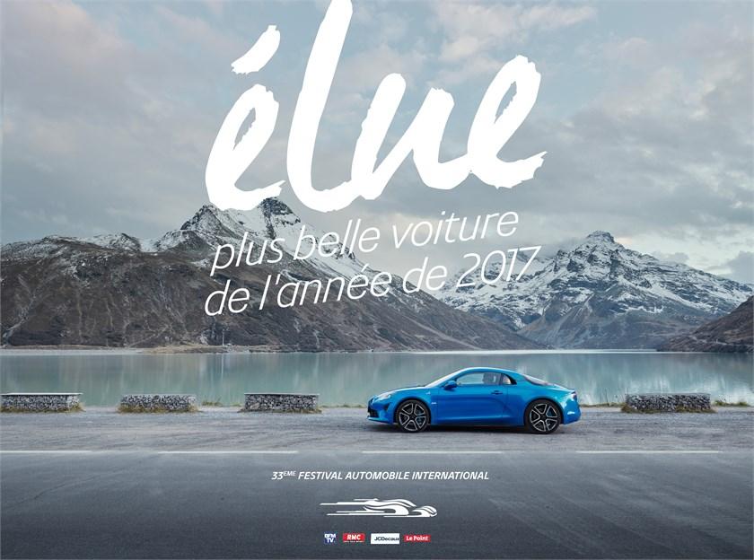 La nouvelle Alpine A110 plus belle voiture de l'année