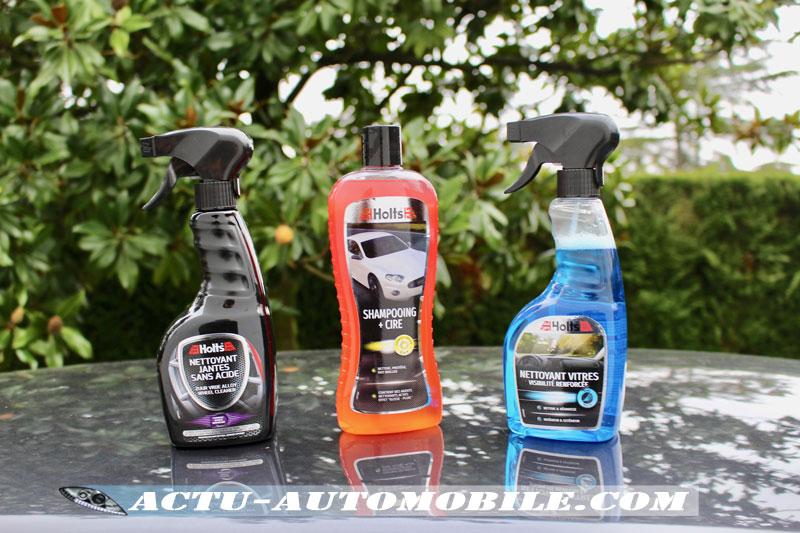 Produits d'entretien auto de la gamme Holts