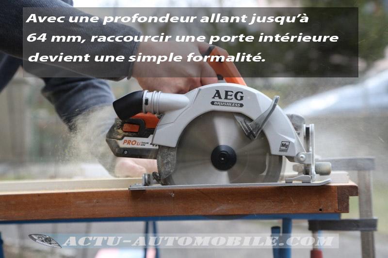 Test scie circulaire AEG BKS 18 BL