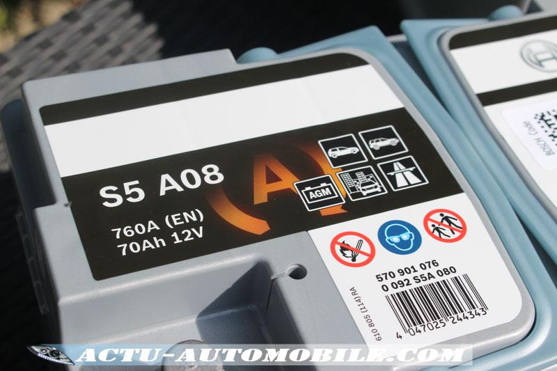 Batterie Bosch S5-A08 (AGM) compatible avec la technologie Stop & Start