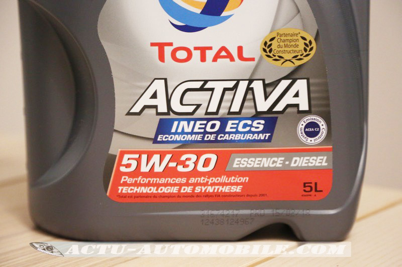 huile 5W-30 TOTAL ACTIVA INEO ECS