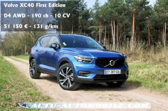 Essai Volvo XC40 D4 AWD First Edition
