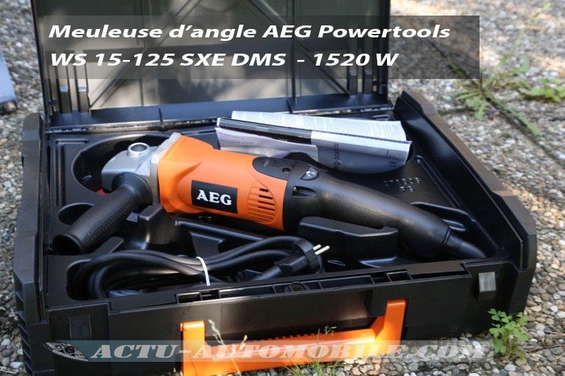 Test meuleuse AEG Powertools