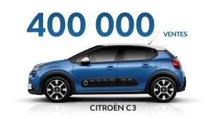 Déjà 400.000 nouvelles Citroën C3
