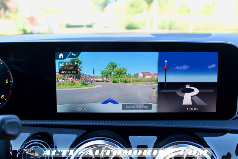 Mercedes Classe A AMG MBUX Navigation à réalité augmentée