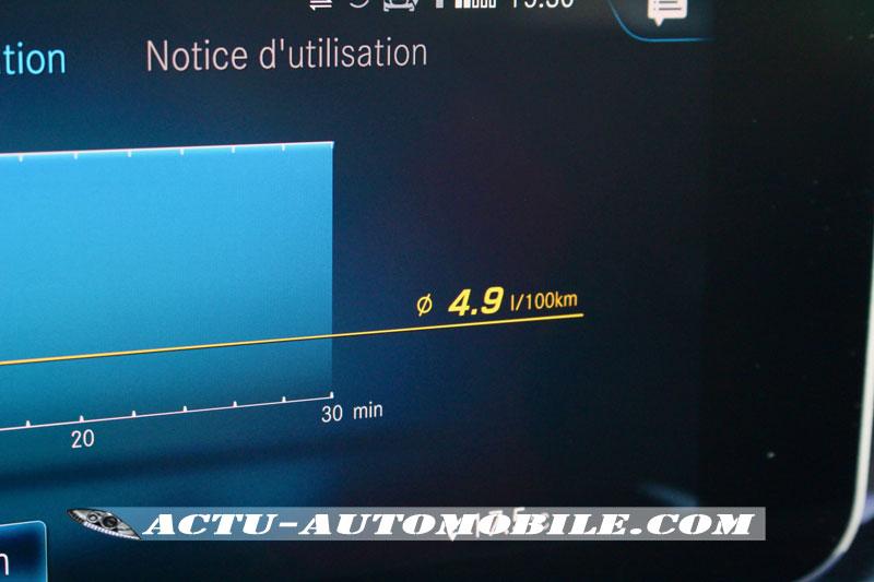 Consommation Mercedes Classe A 180d
