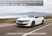 Essai nouvelle Peugeot 508 SW GT Line BlueHDI 160