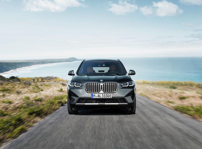 Le nouveau BMW X3 vu de face