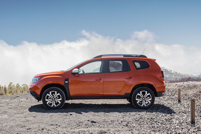 Le profil du Dacia Duster 2021