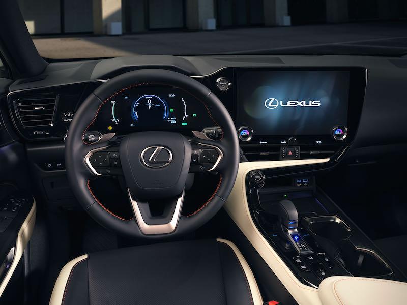 L'habitacle du Lexus NX 2021