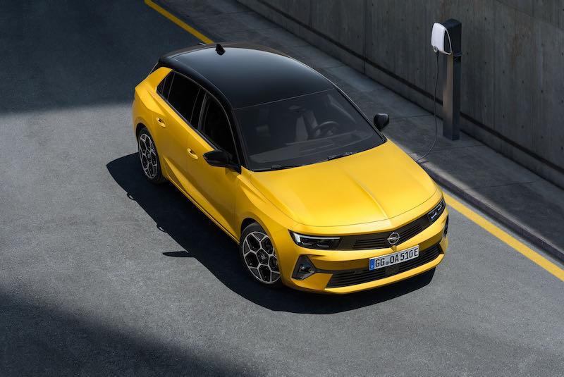 La carrosserie bicolore en option sur l'Astra 2022